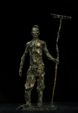 Sasha SVIYAZOV - Escultura - The man with the rake. Hayfield
