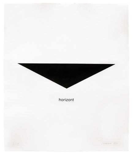 Heinz GAPPMAYR - 版画 - Horizont