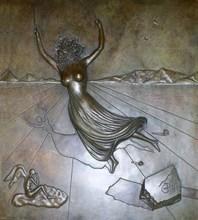 """Salvador DALI - Escultura - """"Femme à la tête de rose"""""""