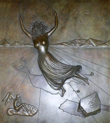 "Salvador DALI - Sculpture-Volume - ""Femme à la tête de rose"""