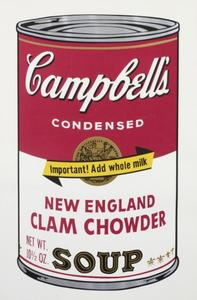 Tom WESSELMANN, CAMPBELL'S SOUP II (NEW ENGLAND CLAM CHOWDER)