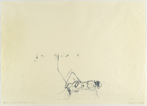 Tracey EMIN - Dibujo Acuarela - And She Was Kissing Me (Cowboys and Lesbians)