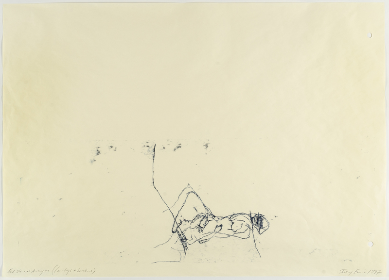 Tracey EMIN - Dessin-Aquarelle - And She Was Kissing Me (Cowboys and Lesbians)