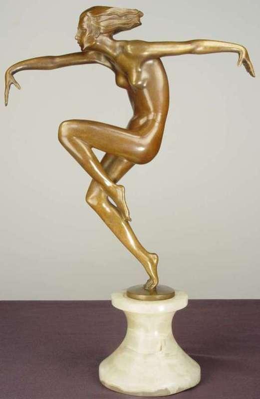 Josef LORENZL - Skulptur Volumen - Nude Dancer
