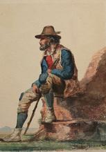 Léon Joseph Florentin BONNAT - Drawing-Watercolor - le berger