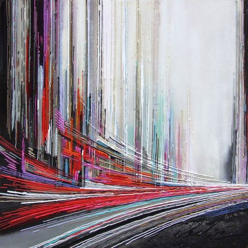 Leslie BERTHET LAVAL - Painting - Cité Urbaine 10