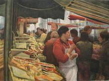 Harold ALTMAN - Grabado - Paris:Le Marché,1988.