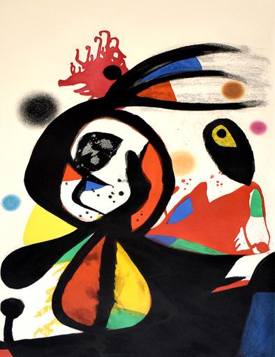 胡安·米罗 - 版画 - The Red Egret | L'aigrette rouge