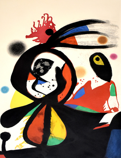 Joan MIRO - Stampa Multiplo - The Red Egret | L'aigrette rouge