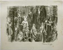 Raoul DUFY - Grabado - Le Bal chez L'Amiral