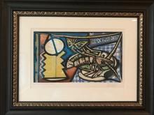Pablo PICASSO - Print-Multiple - Le Homard (also known as ENCORE VIE AVEC HOMARD ET PAPILLON)