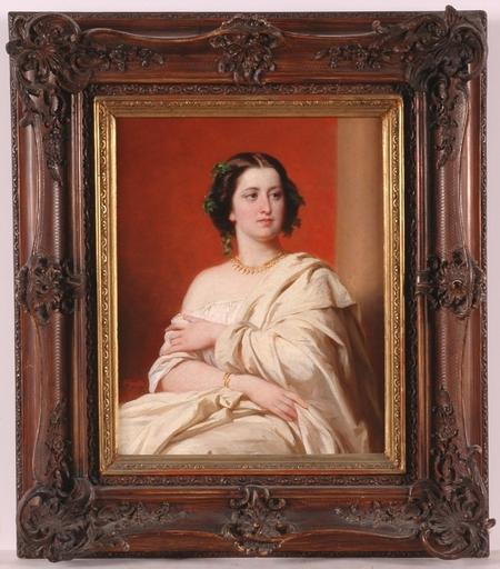 Albert GRAEFLE - Peinture - Portrait of an Actress?, Oil