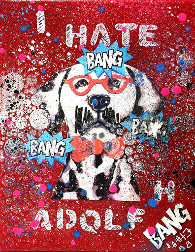 Ethan BANG-BANG - Peinture - Mustach against Adolf H