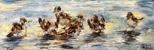 Diana MALIVANI - Painting - Sparrows