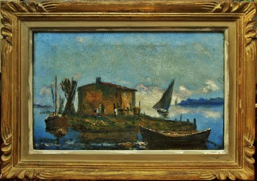 Henri OLIVE-TAMARI - Peinture - Cabanon de pêcheurs à Martigues