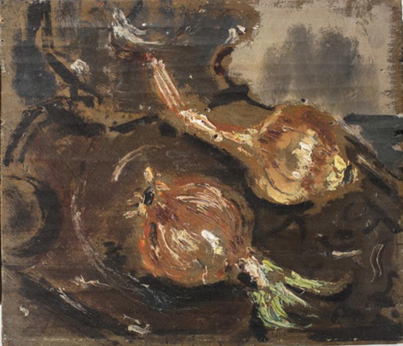 Filippo DE PISIS - Pittura - Natura morta (Le cipolle)
