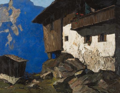 Oskar MULLEY - Painting - Bauernhaus