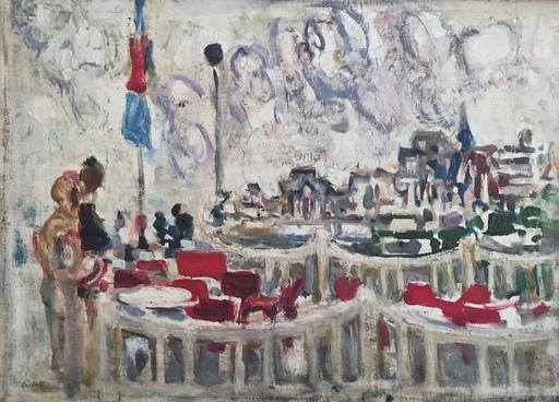 Alexandre Sascha GARBELL - Peinture - Terrasse de café