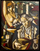 Stéphane GISCLARD - Pintura - Le cabaret