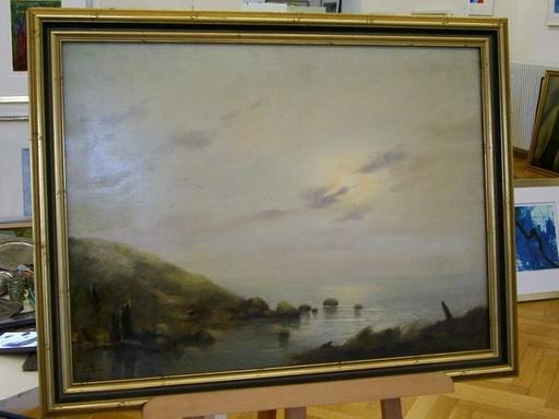 Erich DEMMIN - Painting - Verschleierte Sonne