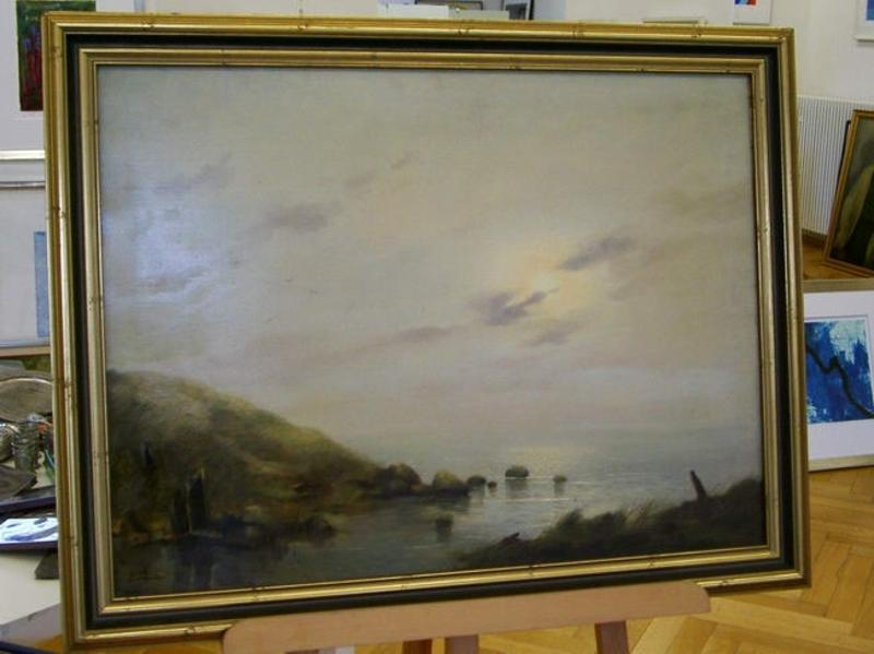 Erich DEMMIN - Pintura - Verschleierte Sonne