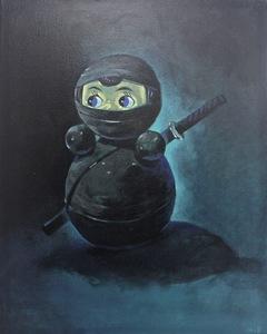 Damir MURATOV - Painting - Tumbler Ninja Toy