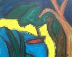 Christian DURIAUD - Pintura - Barqure rouge sur la plage