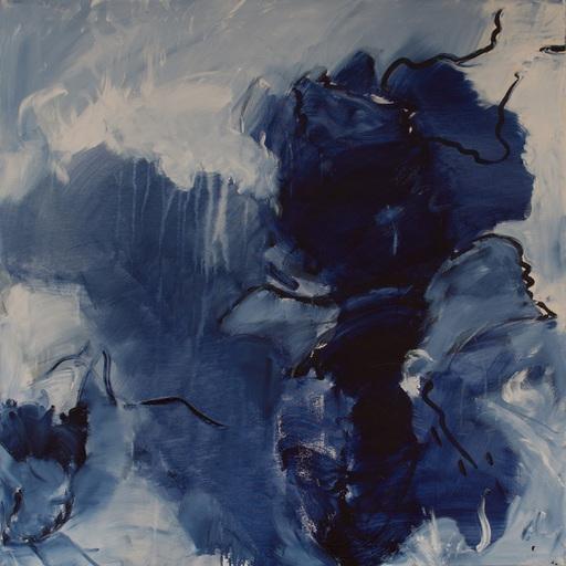 Sylvia GRAUER - Painting - bleu agité