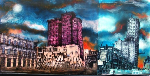 Sándor GONZÁLEZ VILAR - Pintura - Serie Habaneando, #3 (walking in Havana Serie)