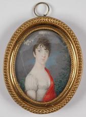 "Georg Emanuel OPIZ - Miniature - ""Portrait of a Lady"", ca.1800, Miniature"
