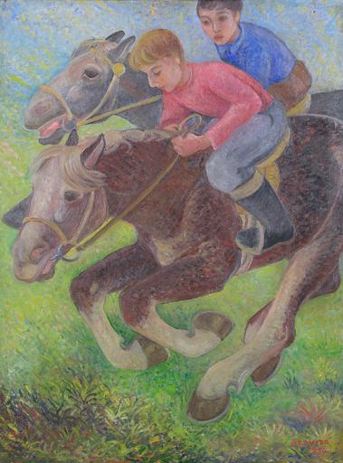 Orovida PISSARRO - Painting - Exercising Ponies