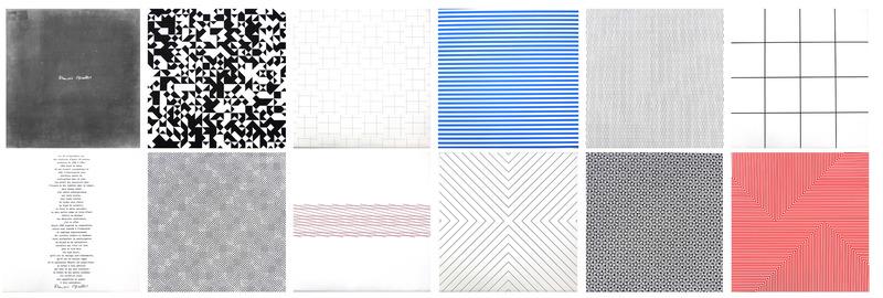 François MORELLET - Estampe-Multiple - Portfolio mit 10 Lithographien