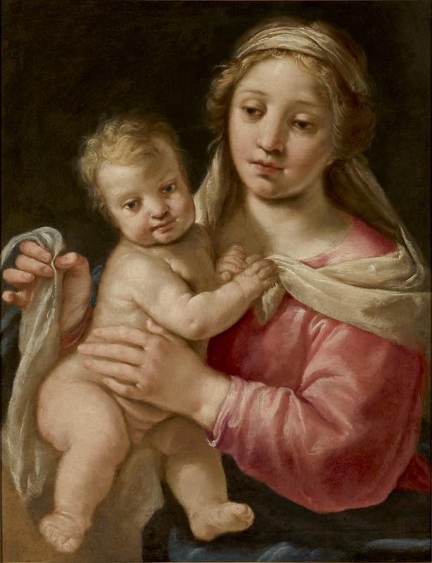 Paolo Emilio BESENZI - Gemälde - Madonna with Child