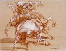 Claude WEISBUCH - Pintura - La chute