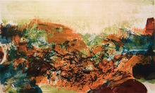 ZAO Wou-Ki - Grabado - From - A la gloire de l'image et art poétique