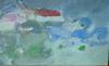 Pierre CHIEZE - Drawing-Watercolor - Village sous l'orage