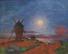 Ferdinand Loyen DU PUIGAUDEAU - Pintura - Moulin de la Mass au clair de lune
