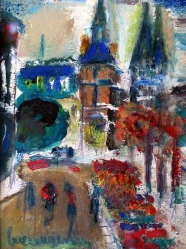 Lucien GENIN - Drawing-Watercolor - Paysage urbain