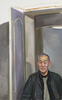 Yu SU - Painting - Uncle Pushing the Door to See :e