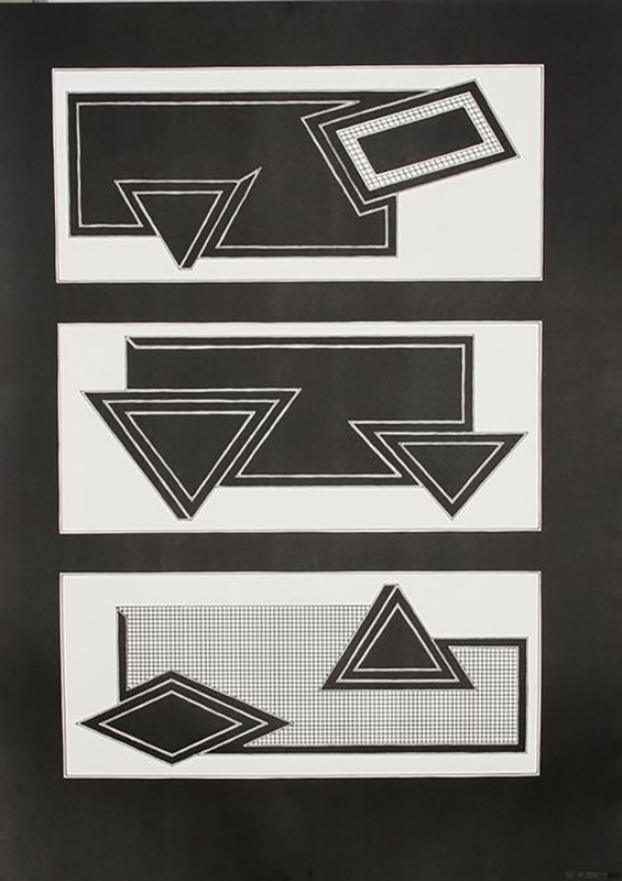 Frank STELLA - Print-Multiple - Black Stack
