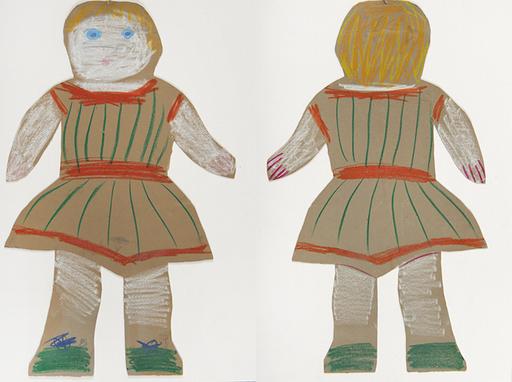 Pablo PICASSO - Disegno Acquarello - La poupée