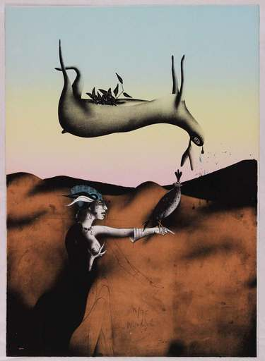Paul WUNDERLICH - Estampe-Multiple - Poésie de la chasse italienne