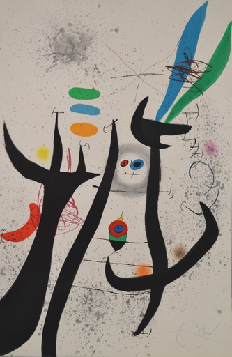 Joan MIRO - Estampe-Multiple - D649 La Femme Arborescente