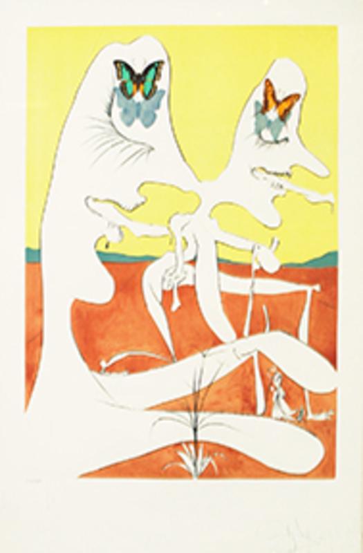 萨尔瓦多·达利 - 版画 - Butterflies of Antimatter