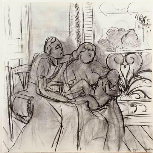 Henri MATISSE - Stampa Multiplo - Maternidad