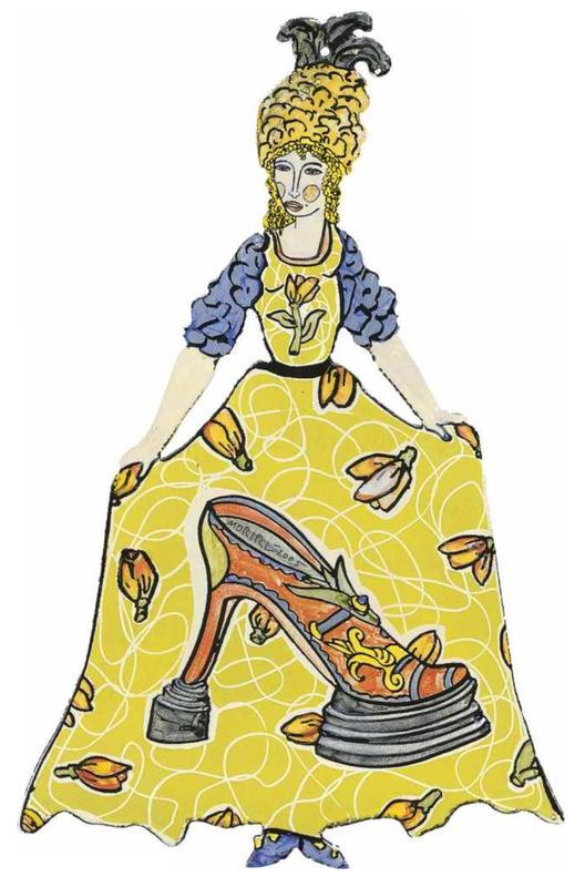 Moritz GÖTZE - Escultura - Rokoko - La chaussure de dame