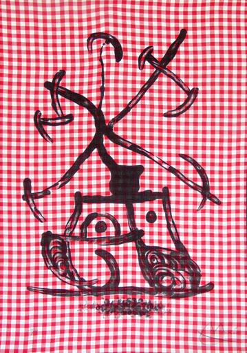 胡安·米罗 - 版画 - The Lady Playing Checkers | La Dame aux Damiers