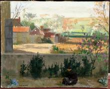 Marcel-François AUBERT - Pintura - PAYSAGE A LA PAYSANNE