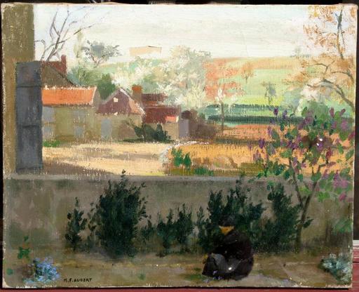Marcel-François AUBERT - Painting - PAYSAGE A LA PAYSANNE