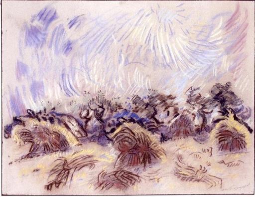 André MASSON - Disegno Acquarello - La Moisson